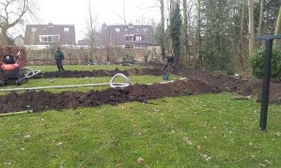 Drainage en beregening nieuwbouwtuinen for Afvoerput tuin aanleggen